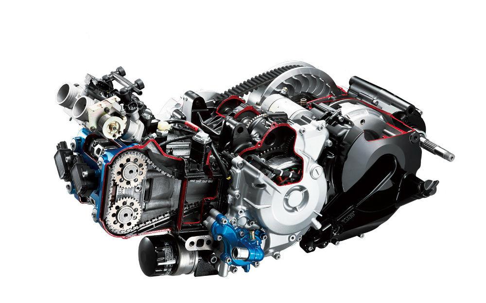 kymco ak 550 2018 motor e transmissão