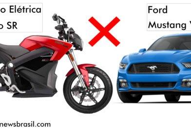"""Moto Elétrica? Sim, essa """"dá pau"""" no Ford Mustang V8 5.0"""