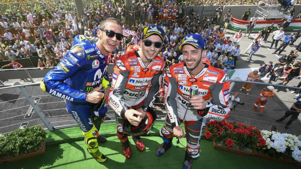 podio italia motogp