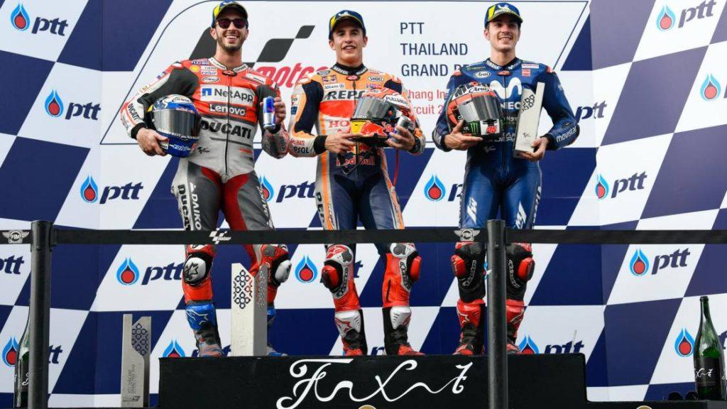MotoGP Tailândia 2018 pódio
