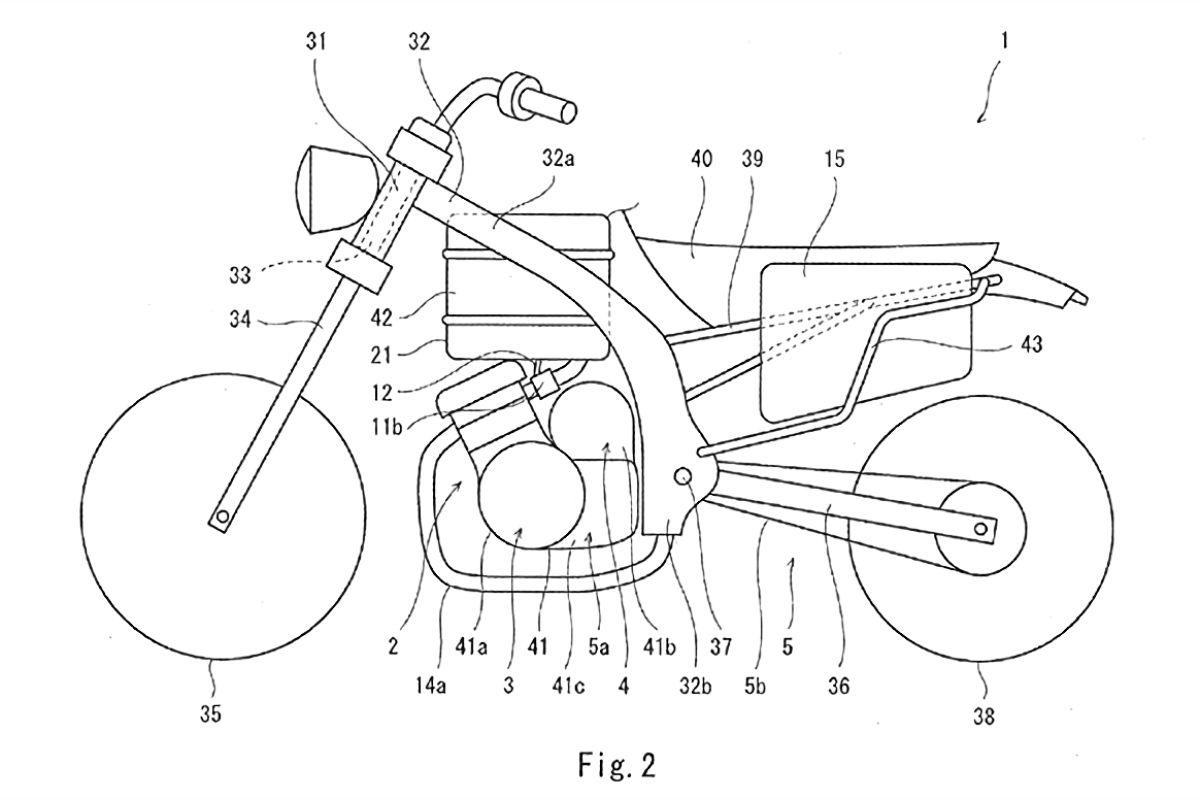 kawasaki moto hibrida patente