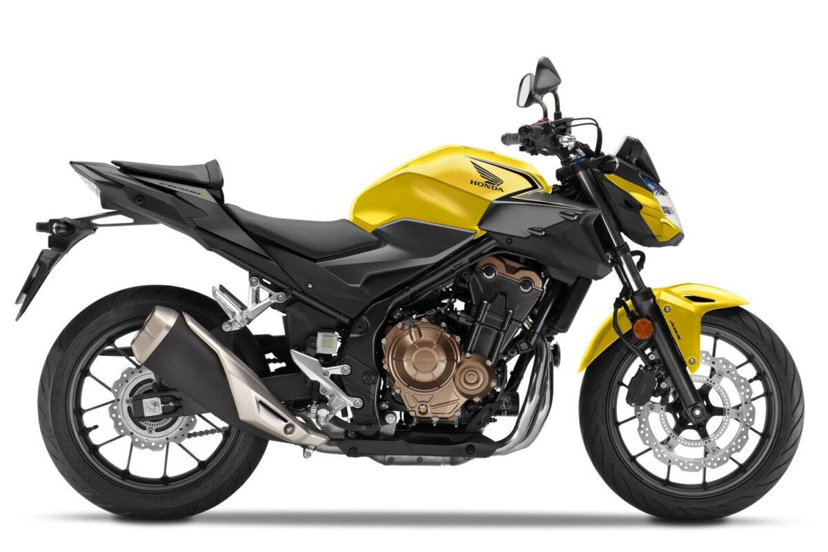 cb 500f 2021 europa amarela lateral