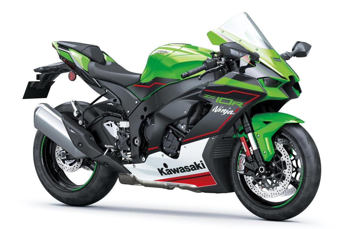 kawasaki ninja zx-10r 2021 verde frontal lateral direita