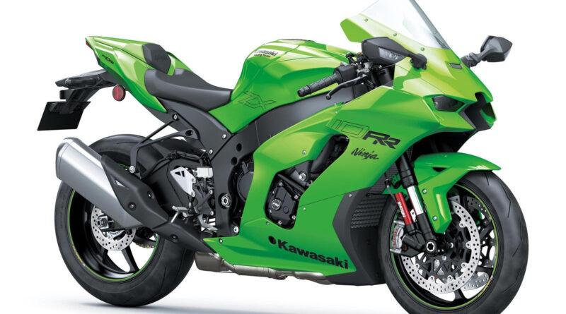 kawasaki ninja zx-10rr 2021 verde frontal lateral direita