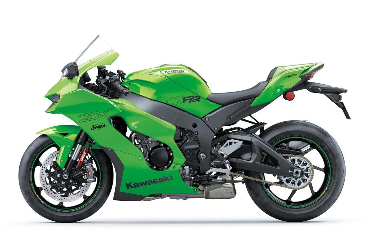 kawasaki ninja zx-10rr 2021 verde lateral esquerda