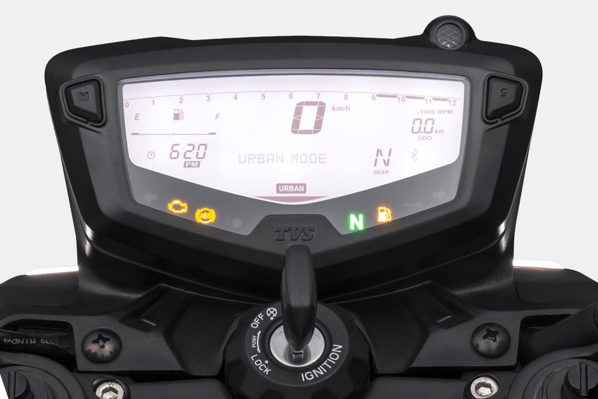 tvs apache rtr 200 2021 painel