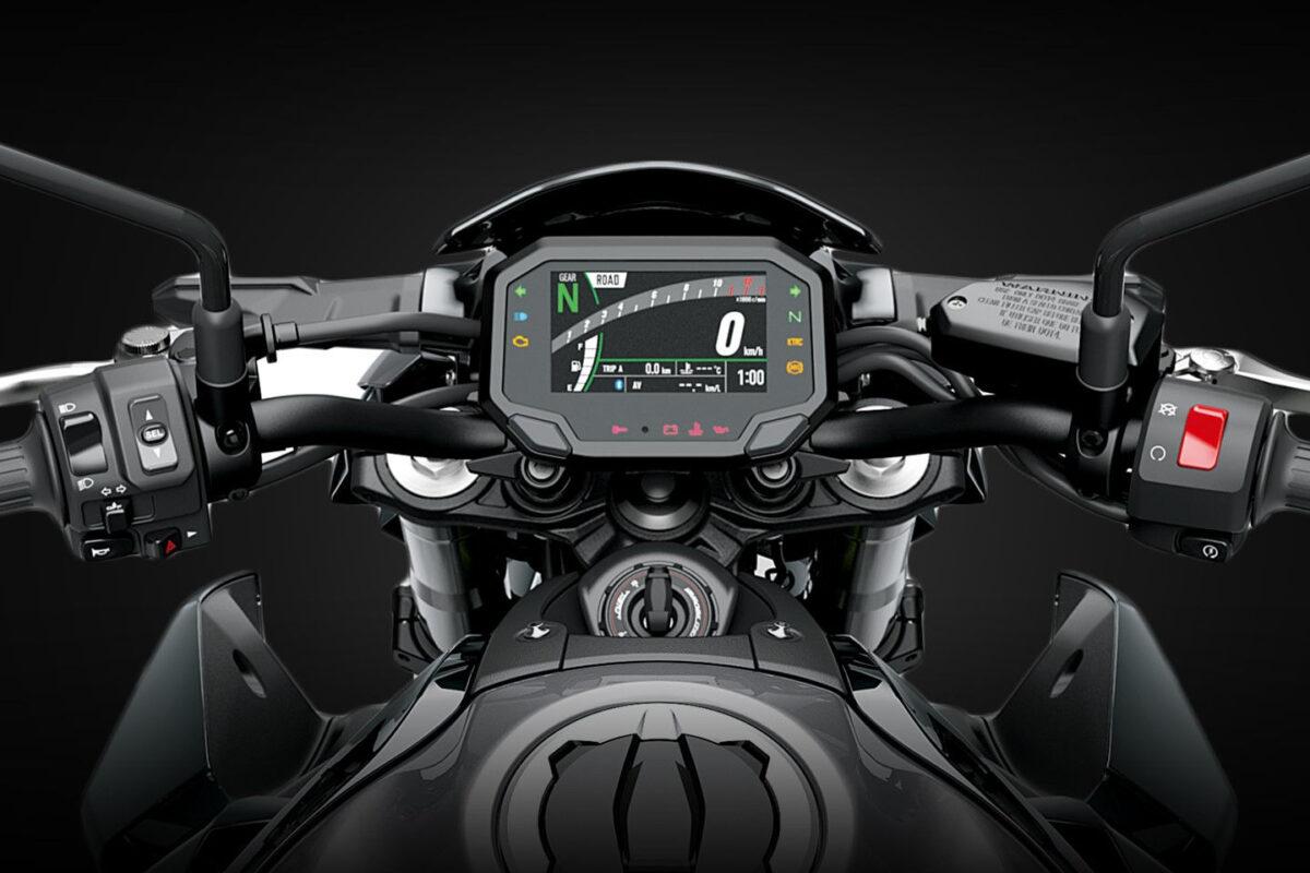 z900 2021 visão do cockpit painel