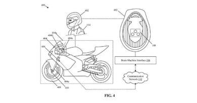patente honda moto controlada pela mente