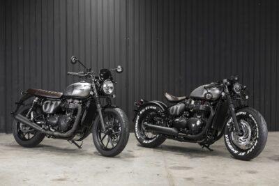 triumph street twin e bobber black projeto TCM customização