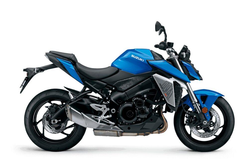 suzuki gsx-s950 azul lateral direita