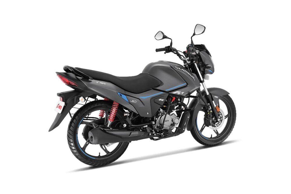 hero glamour xtec cinza moto 125cc traseira