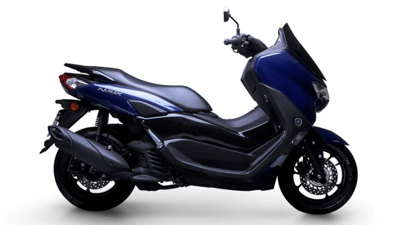 yamaha nmax 160 abs 2022 azul lateral direita