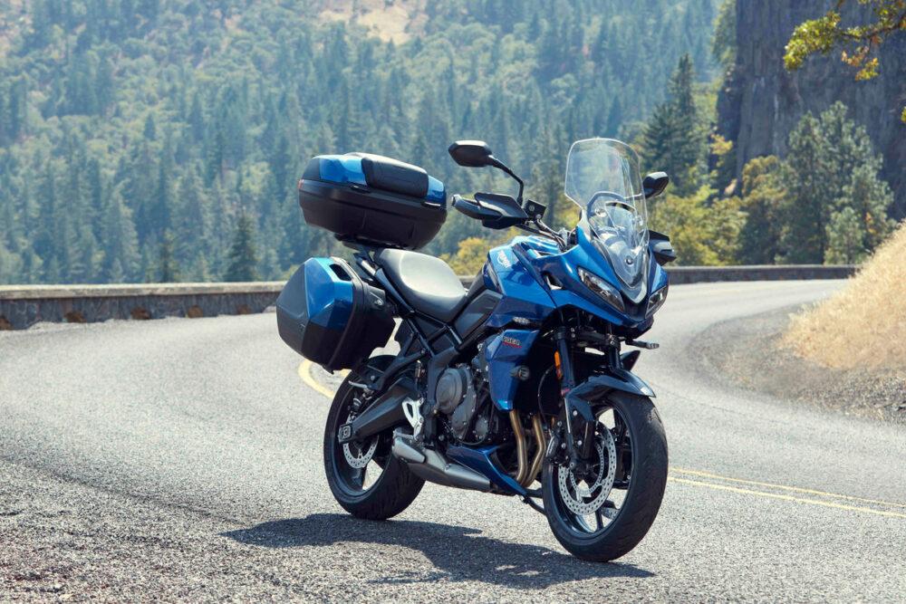 tiger sport 660 2022 azul com acessórios