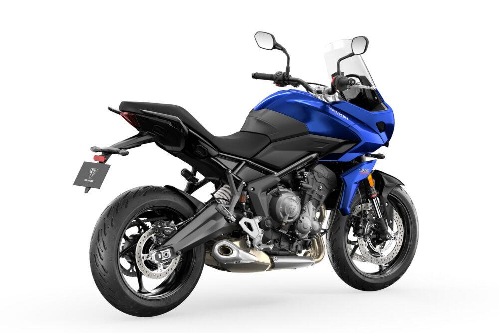 tiger sport 660 2022 azul traseira direita
